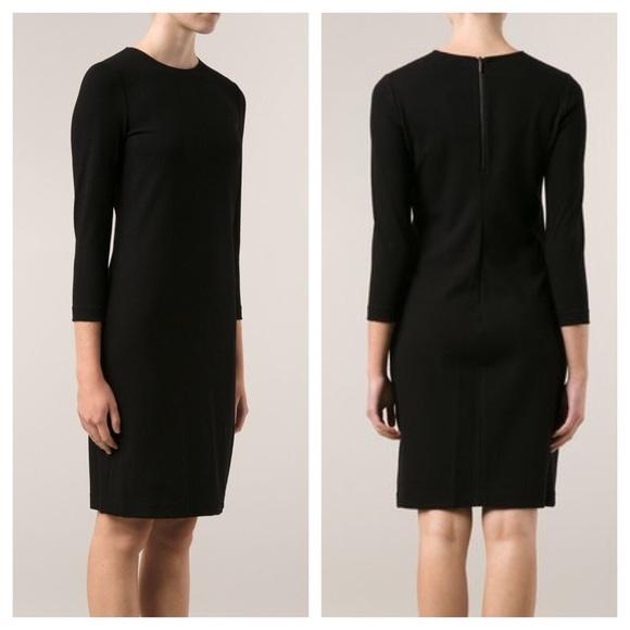 Vince Dresses Black Long Sleeve Shift Dress Poshmark